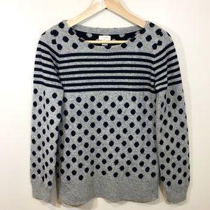 🆕 Listing!  J. Crew | Polka Dot Striped Sweater